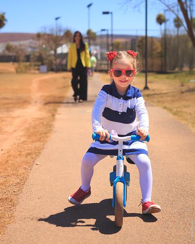 Olha o estilo para andar de bicicleta