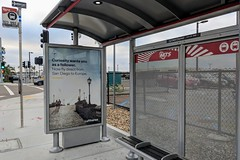 Lufthansa Ad (So Cal Metro) Tags: lufthansa ad billboard marketing busstop shelter mts sandiego san lindberghfield clearchannel