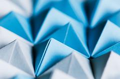 The Blues (benjaminjohnson1983) Tags: 2018 abstract blue doublepyramid dynamic edge flickr geometric hemelhempstead macro macro2018 macromondays naturallight origami paper pyramids repetition shadows theblues triangles