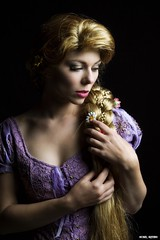 Pensive Princess... (Ring of Fire Hot Sauce 1) Tags: cosplay rapunzel quirkygirlcosplay wondercon portrait glamour noir shadow