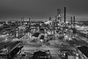 Refinery City (Irene Becker) Tags: portharcourt rivers nigeria phrc refinery industry outdoor heavyindustry night bw oilindustry petroleumindustry pollution smoke oil aerialview chemical chemistry chimney cooling energy environment factory fuel gas gasoline petrochemical petrol plant pipe pipelinepower productionsteam tank technology tower blackandwhite light oilrefinery engineering nnpc