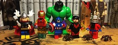Earth's Mightiest Heroes (Lord Allo) Tags: lego avengers classic jack kirby thor ironman captain america hulk wasp antman giantman