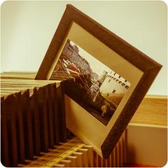 Glass slide mount 1960s (fotogake) Tags: glasrahmendia glassslidemount macromondays backintheday 1960s