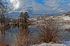 Le Mont Granier (1933m) Hiver 2018  - Savoie (gerardcarron) Tags: calme canon80d ciel cloud eau hiver lac lacstandré lake landscape lesmarches montagne winter water snow sky