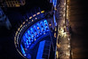 """From my """"without a tripod"""" experiences... (@petra) Tags: fromabove viewfromlondoneye building light bluelight street sidewalk people nightshot london uk travel revisited"""