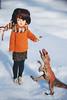 Синди и Дин (Zver-Le) Tags: sindy dinosaur pedigree doll