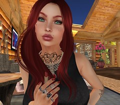 The Final Touch (cejalaval) Tags: secondlife sl style fashion firestorm freckles mesh magika bento bentouttashape 7deadlyskins realevil slphotography tonic tattoo redhead greeneyes izzies
