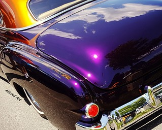 Purple and orange custom Chevy Sled