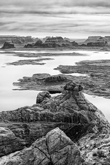 Alstrom Point BW Afternoon Light 2 (Wisconsin Fox) Tags: alstrompoint lakepowell landscape mountains mesa valley plateau butte blackwhite d850 nikon