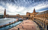 The Plaza de Espana in Sevilla (Aaron_Choi) Tags: marialuisapark architecturaldetail architecture archtiecture bluebridge bridge bridges canal center city cultural destination espana europe european famous historic iconic islan landmark moorish plaza plazadeespana reflection reflections renaissance river seville spain spanish spanishplaza square tourism travel view viewpoint water