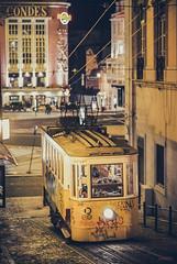 Vintage Transport (_Hadock_) Tags: verde lisbon lisboa portugal transport train tranvia tram night photography photo filter nikon d80 d50 50mm travel travelphotography creative commons fullhd fondo de pantalla screensaver desktop hd full wallpaper