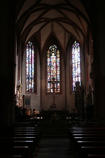 Baden-Baden, view to the choir of the collegiate church
