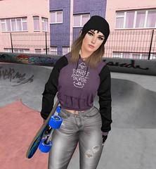 SK8 (KristenStarquill) Tags: villena bento firestorm secondlife second life sl avatar virtual skatepark skateboard skate foxy vista animations blueberry vinyl maitreya lara mesh catwa