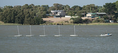 Tesla driverless boats (robdownunder) Tags: boat driverless towing murray river humour