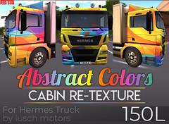 cabin retexture - Hermes Truck (cuuka) Tags: red sun secondlife sl paint painting cuuka kushino hermes truck lusch motors textures art colors abstract