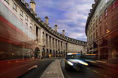 Regent Street Vibes (JH Images.co.uk) Tags: london bus light trails hdr dri clouds traffic regent street shopping taxi car architecture