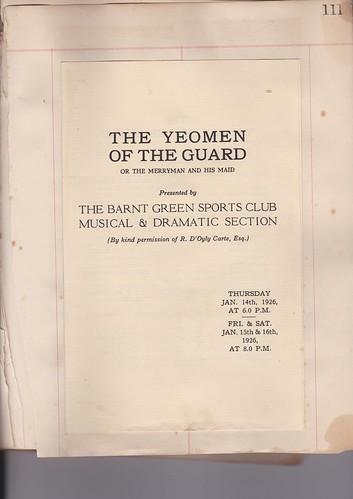 1926: Jan Programme 1