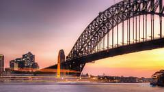 Milsons Point (paradigmblue) Tags: kirribilli newsouthwales australia au lights ferriswheel sydneyharbourbridge bridge milsonspoint water boat sydney harbour