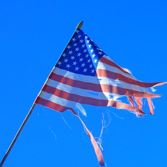 ♫ That Our Flag Was Still There... ♪ (Viejito) Tags: sanluisobispo california slo higuerastreet pepperstreet usa unitedstates geotagged geo:lat=35284274 geo:lon=12065551 amerika amérique américa america canon powershot s100 canons100 drumpf donald trump donaldtrump realdonaldtrump taxdodger lewd rude pussy pussygate jessicaleeds rachelcrooks templetaggart stormydaniels stephanieclifford karenmcdougal orange hair watersports liar rino republican inauguration swearingin president presidentelect great flag starsandstripes oldglory makeamericagreatagain twitter bombs tattered torn shredded shreds 500x500 square symbol metaphor lostglory itmfa