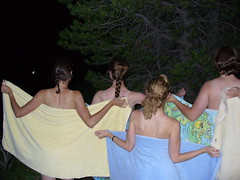 after in our towels (tarathalon_palmer) Tags: jackson wyoming skinnydipping stringlake