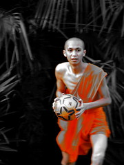 shaolin soccer (lifemage) Tags: china orange shanghai buddhist soccer monk   shanghaiist enoch shanghaiexpat lifemage