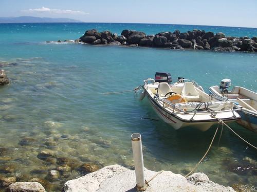 Boats Lourdas Beach
