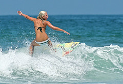 Surfer Girl (casch52) Tags: ocean california county summer woman hot 20d beach water girl sport canon fun photo cool sand san surf sandiego action surfer board extreme tan wave diego surfing 300mm southern blond photograph oceanside views surfboard moonlight encinitas 100000 surfergirl 14x f4l explorer13 stunningphotogpin