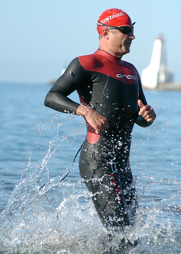 Out of the water, Cobourg Triathlon