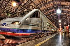 Dirty Bullet (Stuck in Customs) Tags: italy milan train italia milano trainstation bullet hdr trenitalia cisalpino 1000v40f