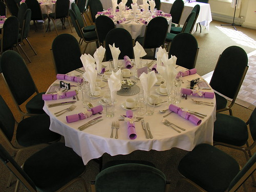 black and white wedding reception decor. wedding reception table