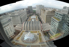 View from my window (johnnyh) Tags: autostitch panorama london canarywharf onecanadasquare