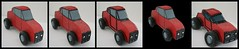 Little Red Car - Progression (oldmandigital) Tags: red black car toy grey fdsflickrtoys mosaic gray 2006 redcar woodentoy woodencar