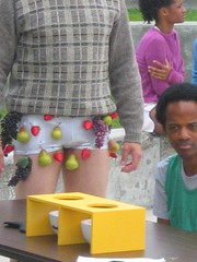 fruitofthemuthafuckinloom (jsnmrkl) Tags: test fruit naked sweater underwear african strawberries american grapes pear taste blackman confusion pantless