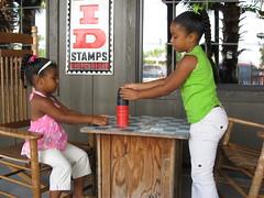 The girls playing checkers.... (BahamaPapa) Tags: breakfast with sean gardiner