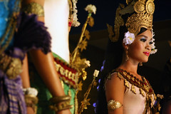 Khmer Beauty: Apsara (mboogiedown) Tags: travel light woman color heritage beauty court asian dance costume interestingness colorful asia cambodia cambodian khmer bokeh traditional silk culture dancer explore siem reap classical southeast tradition angkor  oneyear apsara cultural celestial apsaras   kampuchea mapcambodia    cambogia theravada achara interestingness60 i500 travelforpeace breathtakingbeauty 123travel gtaggroup camboge  colorfulcambodia colorsofcambodia khmercolors heavenlynymphs wivesofthegods celestialdancers theibapsar beatravelernotatourist dontjustseetheworldexperienceit experiencecambodia buddhistnations sampot