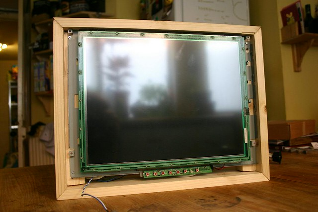 Wooden Touchscreen Terminal - inside front