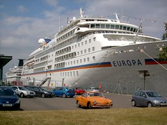 Cruise Ships Europa and Rhapsody