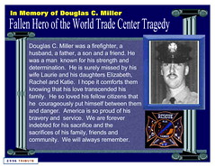 911 Fallen Hero of the World Trade Center Tragedy (blmiers2) Tags: autumn newyork fall blog other memorial worldtradecenter 911 fireman twintowers wtc tribute september11 fdny groundzero 2996 fallenhero douglascmiller 2996tribute blm18 blmiers2