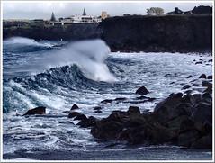 The waves call out to you... (Azorina) Tags: ocean blue sea portugal water gua azul wonder ilovenature mar fantastic poetry poem poesia ondas azores chung poema smiguel azorina svicente abigfave retratodaspalavras