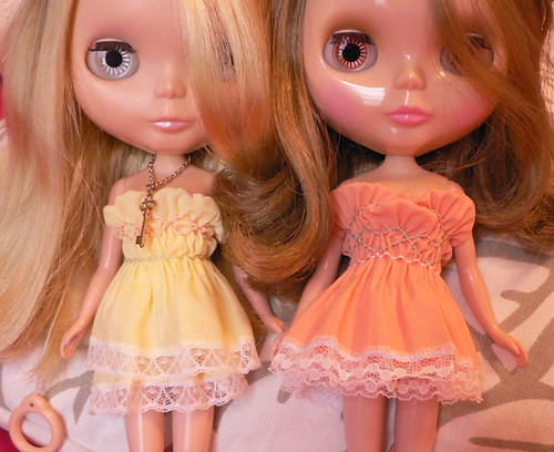 imogen and valentina show off new dresses by elysiarenee