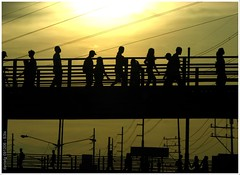 People of  Sunset City -S3isSunset8 (Daniel Y. Go) Tags: bridge light sunset sky people urban sun silhouette canon bravo philippines citylife powershot s3is onecentshot wowiekazowie gettyimagesphilippinesq1