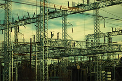 Substation from the train - by ChrissyJ