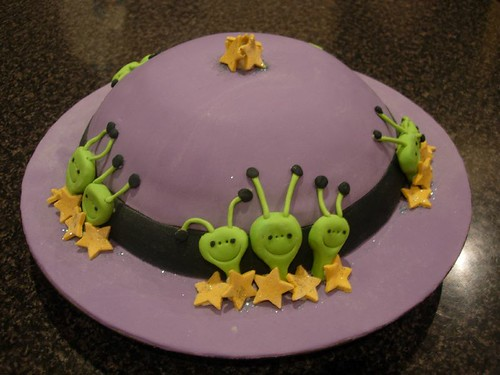 Space Ship Cake - Carrot Cake with Fondant Icing