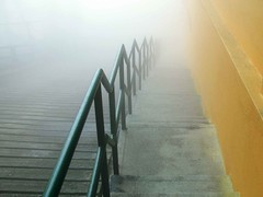 The Way To The Unknown (Ahmed Rabea) Tags: road park mist fog stairs way high path unknown genting theme kuala lands lead lumpur malysia
