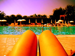 Watching The Pool, Getting Tan ;) (Ana Bel) Tags: travel beach club turkey hotel side resort traveller antalya journey manavgat colakli instantfaves