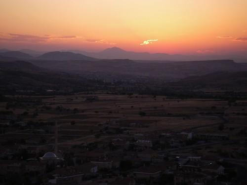 Sunset in Uçhisar