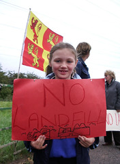 no landfill (Vertigogen) Tags: wales demo protest quarry landfill johnstown wrexham hafod stinks 20september2006