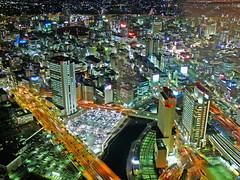 Future=Present (Straws pulled at random) Tags: street light building cars topf25 japan architecture night river tokyo colours   yokohama p1f1
