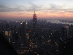 Downtown (Sarah_Ackerman) Tags: nyc newyorkcity newyork view manhattan rockefellercenter empirestatebuilding empirestate topoftherock gebuilding