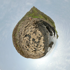 Tear of the weeping Giant (Man) Tags: ireland volcano gimp explore handheld northernireland mythology giantscauseway worldheritage carrickarede ropebridge planetoid interestingness201 i500 littleplanet irishmythology manuperez planetoids